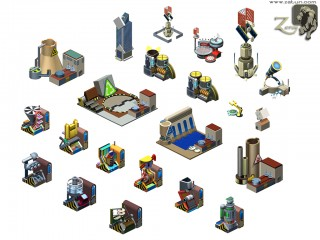isometric models 320x240 Facebook Game Development